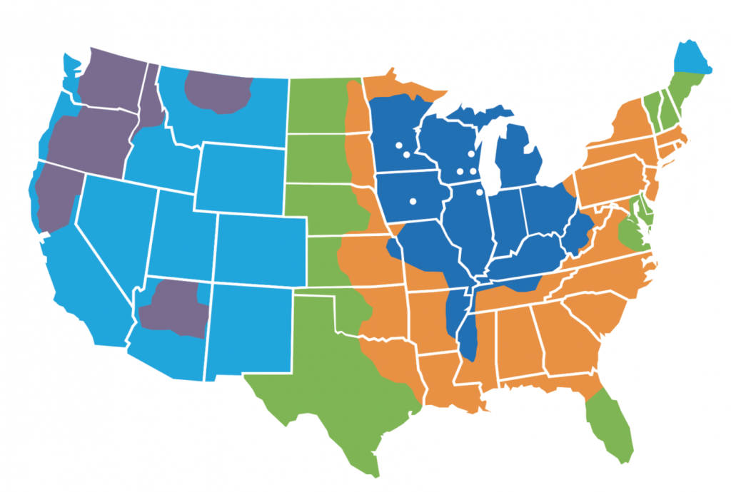 Tax-Air Nationwide services map